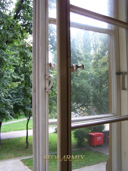 Okno skrzynkowe widok szprosów.