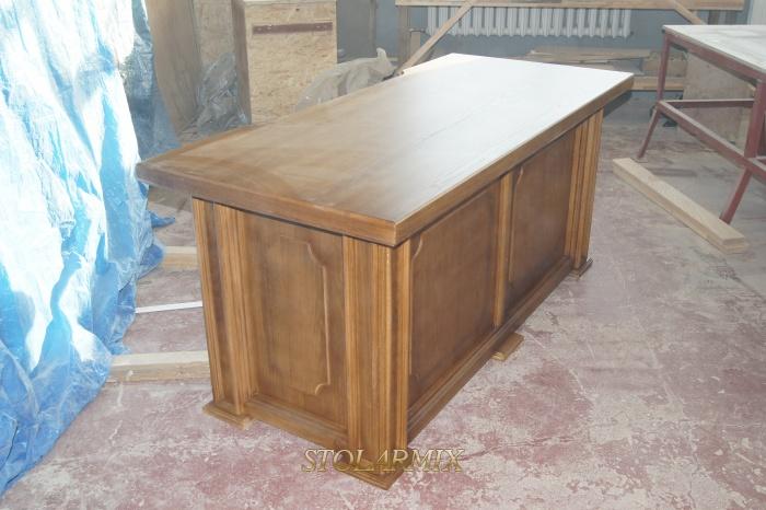 Biurko stylizowane, dębowe wg wzoru z starych fotografii.