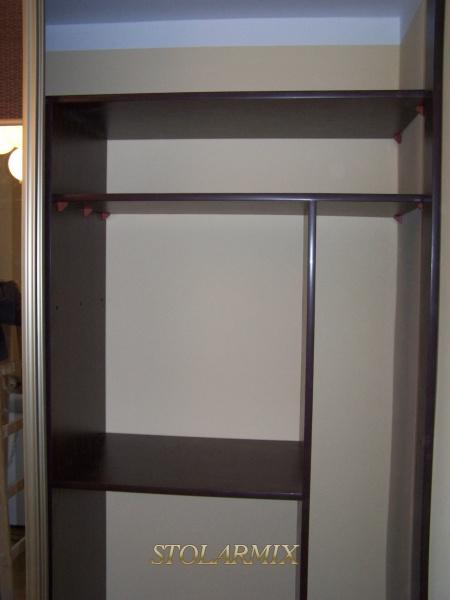 Zabudowy wnęk - przykład wykonania garderoby.